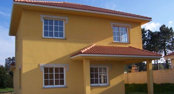 Pintura para exterior de casas tipos y colores casa web for Imagenes de casas coloniales