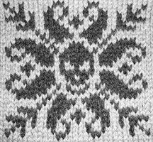 This is such a cool chart. It's called a deathflake. It's a cool way to introduce yourself to fair isle knitting or make a cool creepy item.