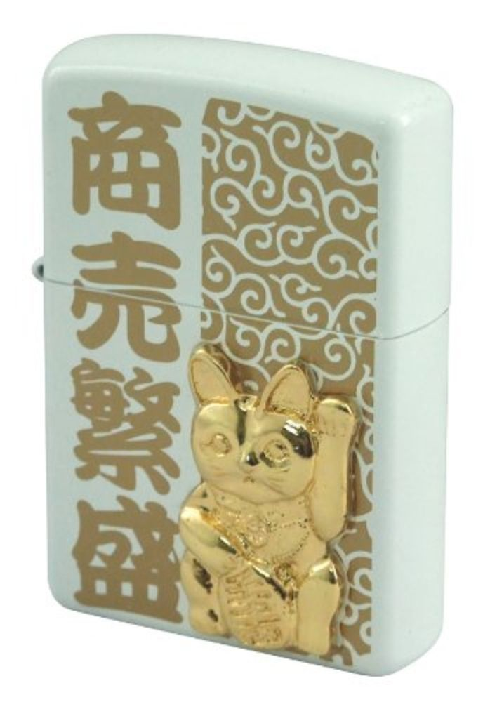 Zippo Japanese Manekineko Lucky Cat Beckoning cat New from Japan Free Shipping #Zippo