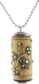 @Katie Hrubec Benson Thought of you...  Peridot Swarovski Crystals on Wine Cork Necklace...www.co...