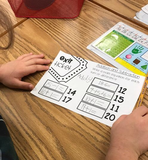 exit tickets for first grade, wrapping up a math lesson, quick checks for math lessons
