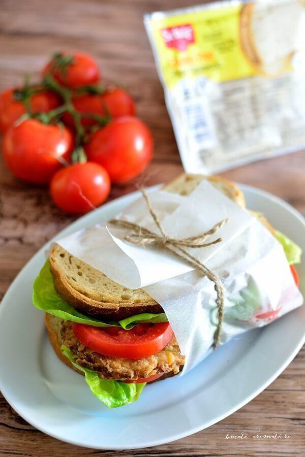 Sandviș de post cu chifteluţe din legume (fără gluten)