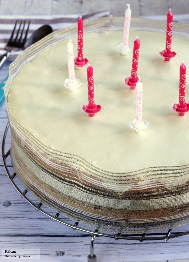 tarta de cumpleaos de tres chocolates receta para nios