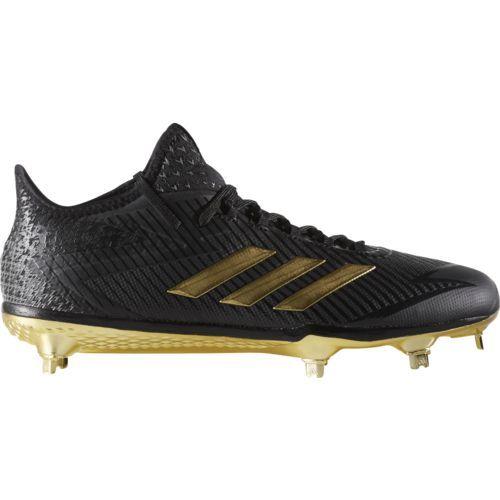 Adidas Men\u0027s Adizero Afterburner 4 Baseball Cleats (Black/Gold, Size 14) -  Adult Baseball Shoes at Academy Sports