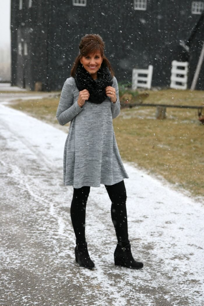 Winter Style- Swing Dress Outfit