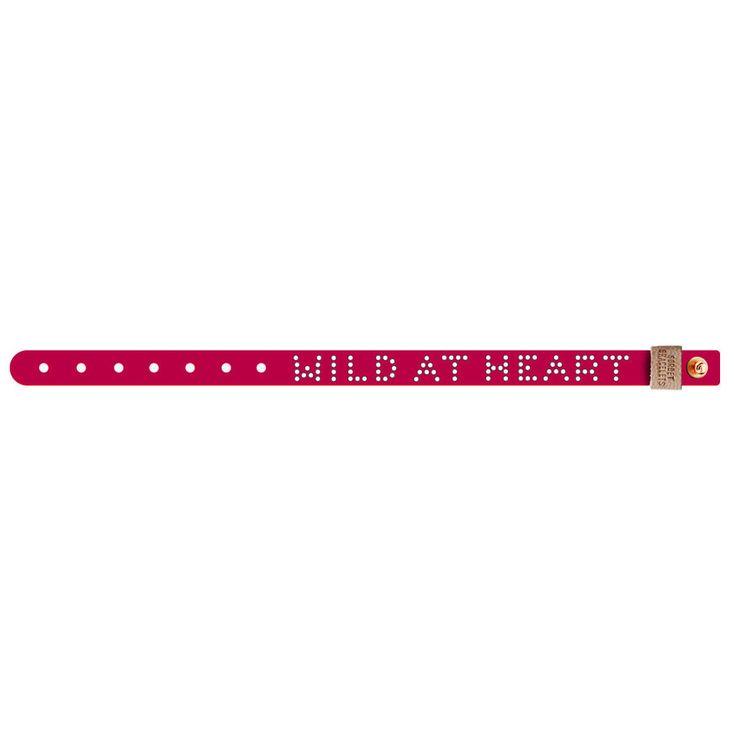 No.160 WILD AT HEART Leather Bracelet / Bordeaux