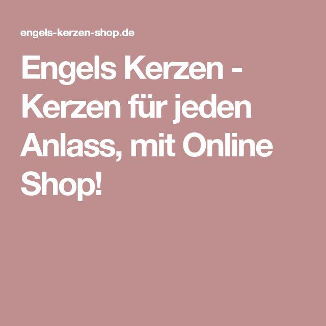Engels Kerzen - Kerzen für jeden Anlass, mit Online Shop!