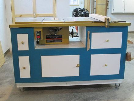 Table saw cabinet tablesaw and router station for Table saw cabinet plans free
