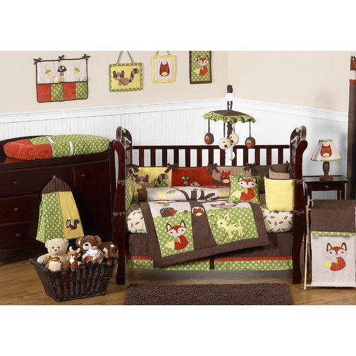 Sweet Jojo Designs Forest Friends 9 Piece Crib Bedding Set Reviews Wayfair Crib Bedding Sets Baby Crib Bedding Sets Crib Bedding