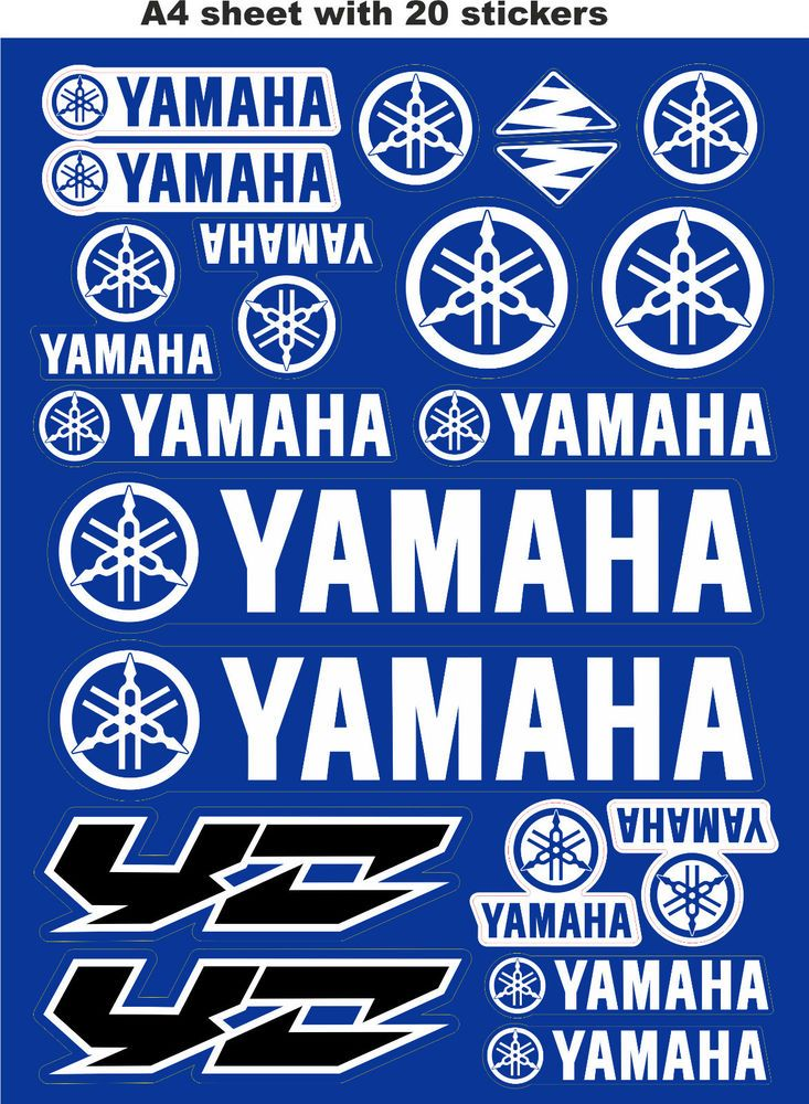 31 Best Yamaha 100 Motorcycle Decal Stickers Images On