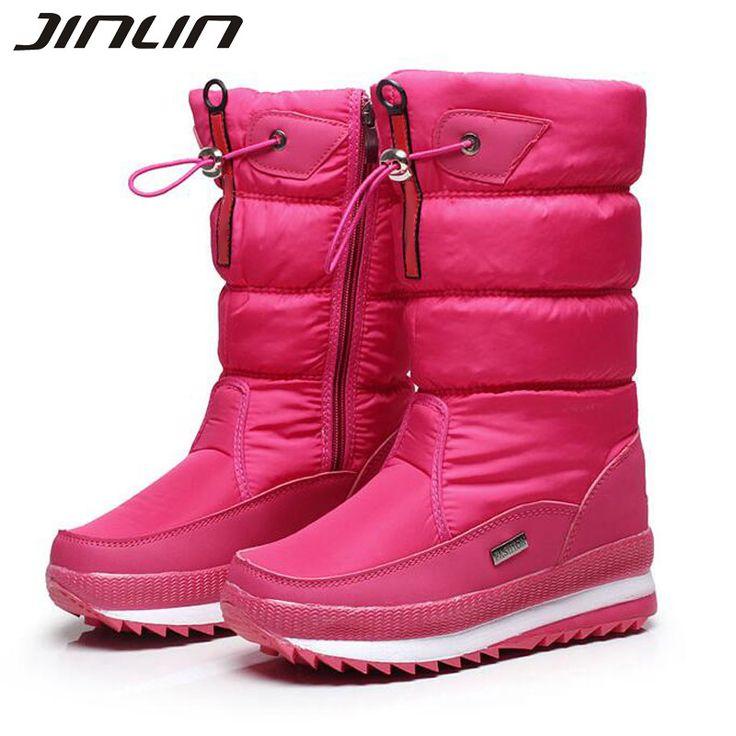 New 2016 women's boots winter women snow boots  thick outdoor non-slip waterproof snow boots for women botas mujer bota feminina #shoes, #jewelry, #women, #men, #hats, #watches, #belts