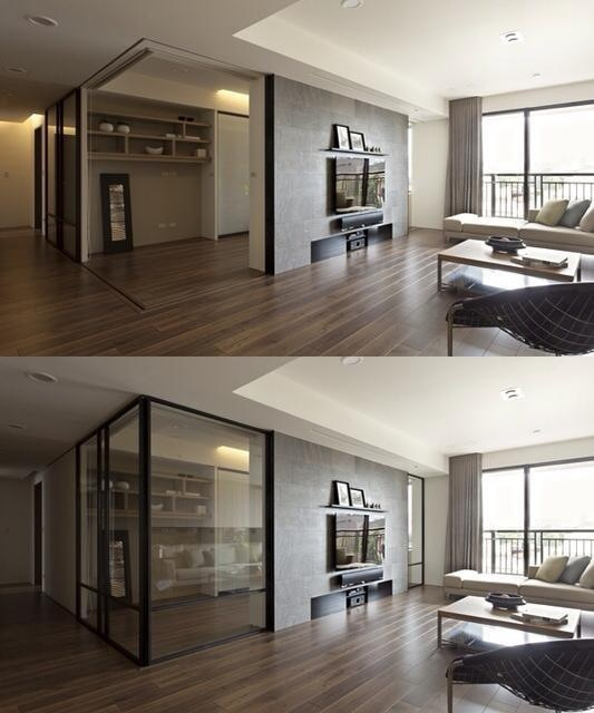 Retractable Interior Wall by Fertility Design