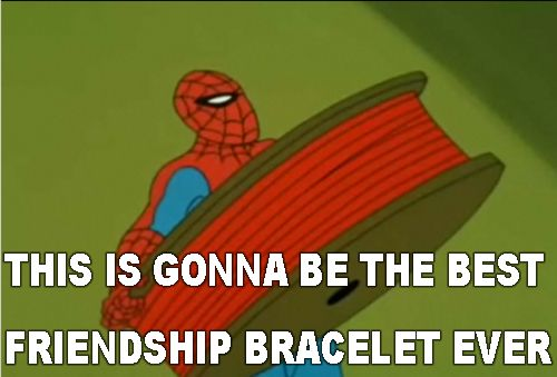 60s spiderman funny best friendship bracelet EVER - Visit to grab an amazing super hero shirt now on sale!