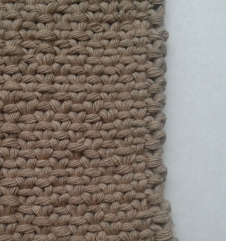 linen stitch tutorial - great for items that need a thicker, denser knit like purses, placements, etc.