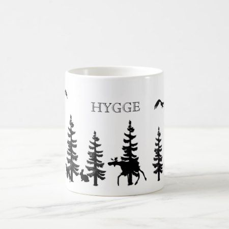 Nordic Hygge with forest and animals in black Coffee Mug - tap, personalize, buy right now!