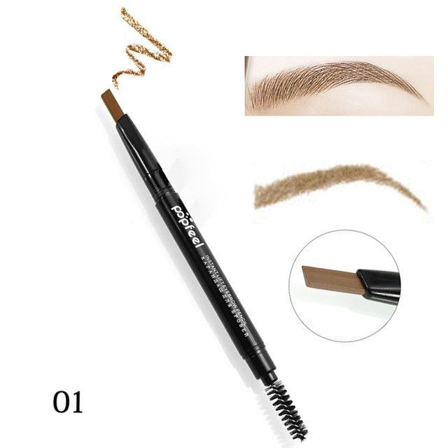 Double-ended Professional Eye Brow Pen Long Lasting Natural Pigments Gray Brown Eyebrow Tattoo Pencil Cheap Makeup