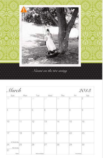 Personalized Photo Calendar ($4.50 Shipped)