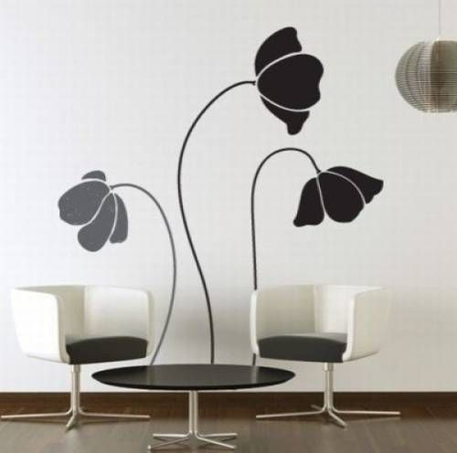 Imagine This Classic Large Flower Wall Stickers On Your Wall. Add Some  Nature To Your Space With These Elegant Flowers Wall Decals!