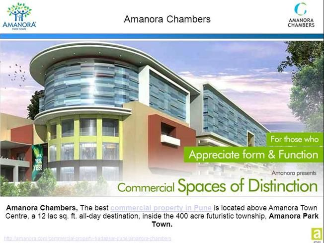 Amanora Chambers presents ready possession commercial office space - commercial business form