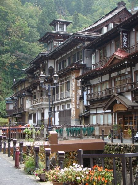 Ginzan-onsen, Obanazawa, Yamagata, Japan
