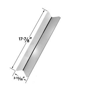STAINLESS STEEL HEAT SHIELD REPLACEMENT FOR TERA GEAR GSF2520KL (14012021), GSF2520KLN, GSS2020 (14013012), GSS2520JA (14013003), GSS2520JAN (14013004, 13013004) AND BBQTEK GSS2520JA GAS GRILL MODELS