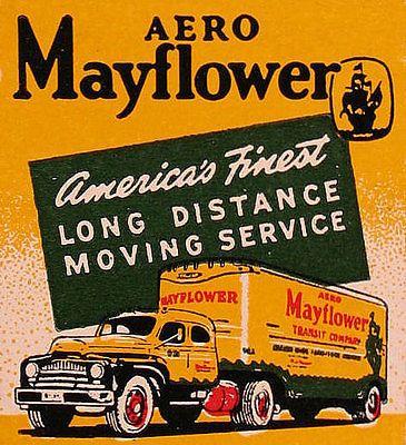 1950s Jones Moving U0026 Storage (Mayflower) Truck Matchcover  McAllen TX, Et