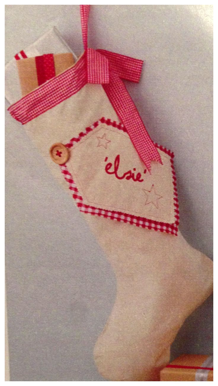 Cute Idea Embroider Or Embellish A Tag On The Stocking