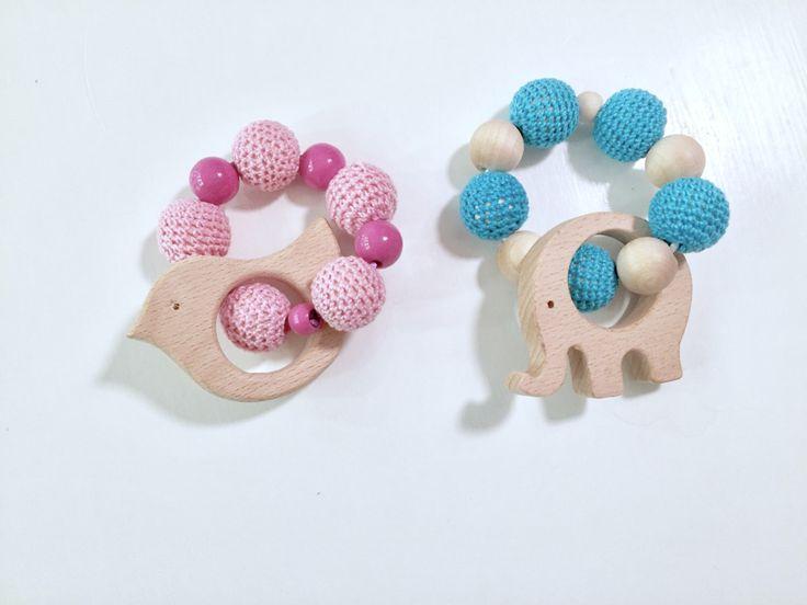 Teething toys by OAKorganiconeofakind on Etsy https://www.etsy.com/no-en/listing/497540659/teething-toys