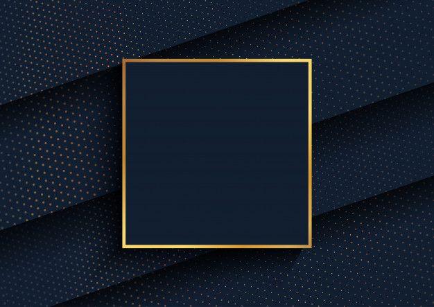 Download Elegant Background With Gold Halftone Dots Design And Gold Frame For Free Halftone Dots Phone Wallpaper Design Frame Template
