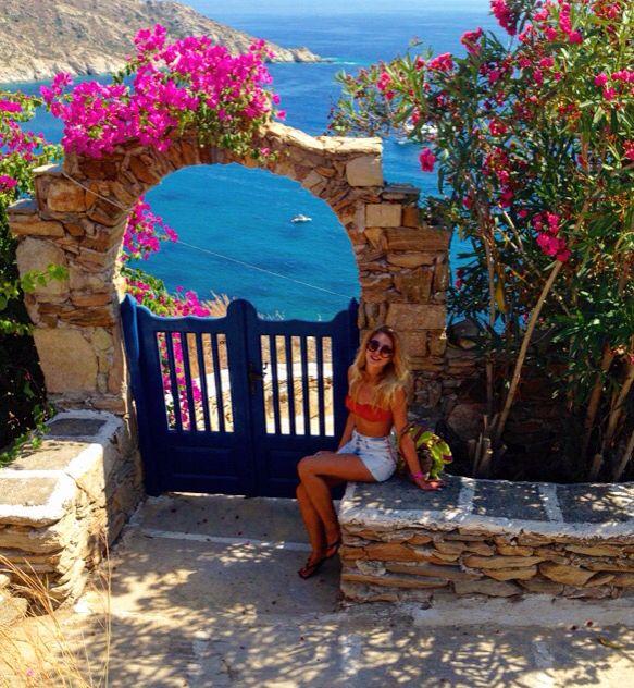 flowers , Ios, Greece