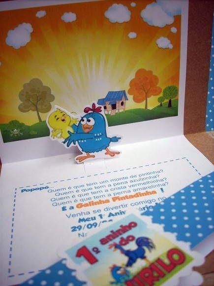 Convite Galinha Pintadinha [Pop-up]