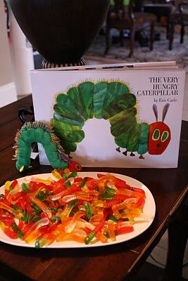 The Very Hungry Caterpillar Party :: lots of great details for a bug/outdoor explorer/camping party, too!
