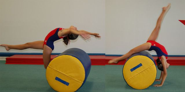 How to Do a Back Walkover in Gymnastics: Back Walkover with a Barrel Mat
