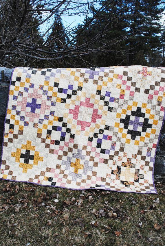 PATRÓN de la colcha de patchwork... Fácil... Rodillo por sweetjane