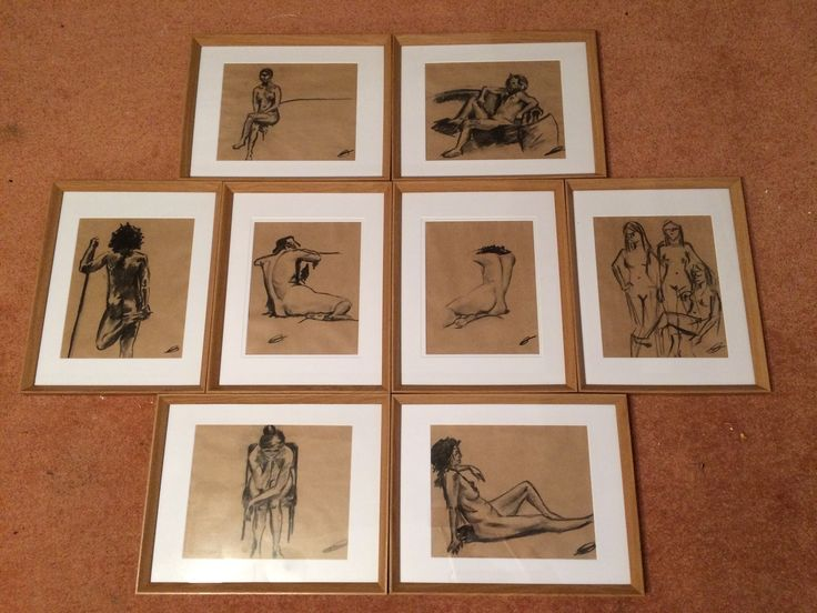 Charcoal nudes