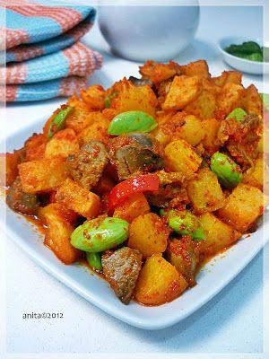 Sambal Kentang Goreng Ati Dan Rempela Bahan: 500 gram kentang, potong kotak 5 buah ati ayam dan 5 buah rempela(rebus trus poton...