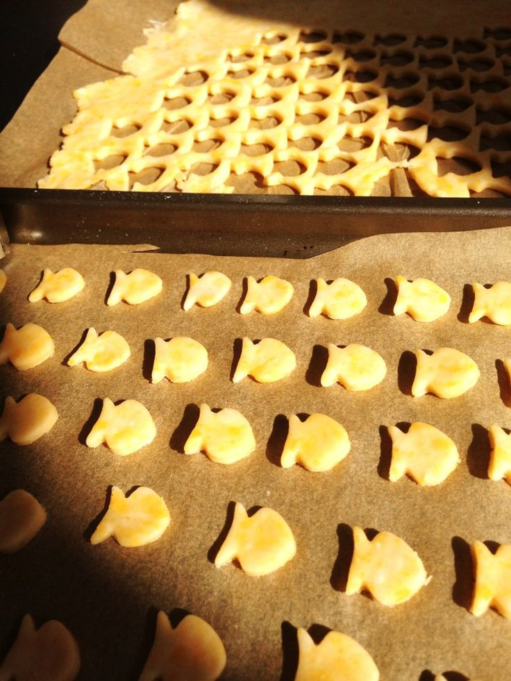 Homemade Goldfish Crackers - same fun snack without all the preservatives!