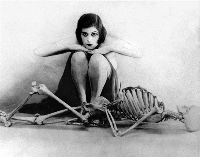 Silent film actress Theda Bara. She was one of the most famous silent film actresses in the silent film era and one of the earliest cinema sex symbols.