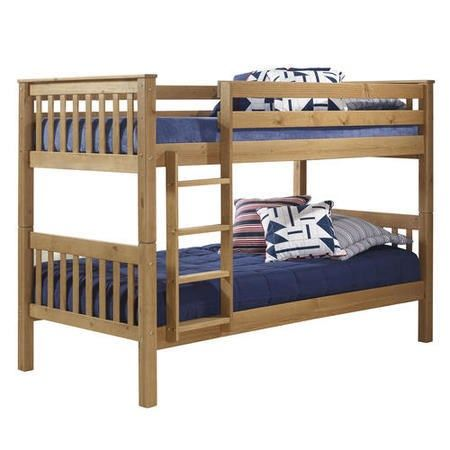 Oxford Pine Single Bunk Bed - Ladder fixes to either side! | Furniture123