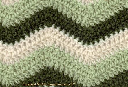 Easy Crochet Ripple Afghan Tutorial : Easy Ripple Crochet Pattern. We have an afghan with this ...