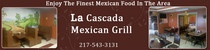 La Cascada Mexican Grill serves delicious Mexican dishes in Arthur, IL...See what they have to offer.    http://www.examiner.com/food-in-chicago/a-delicious-fiesta-at-la-cascada-mexican-grill-review