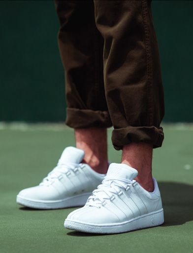 Classic white K-Swiss sneakers are  a must at Wimbledon!