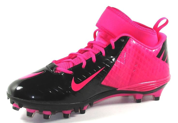 nike superbad 3 4 td football cleats size 13 pink breast