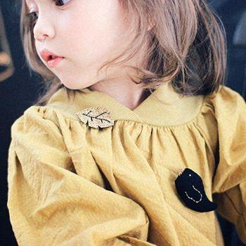 A プルネックリブブラウス(マスタード) - 海外のおしゃれでかわいい子供服通販のセレクトショップ│Peach Baby