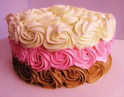Torta decorada rosas de crema de manteca / Butter cream roses decorated cake