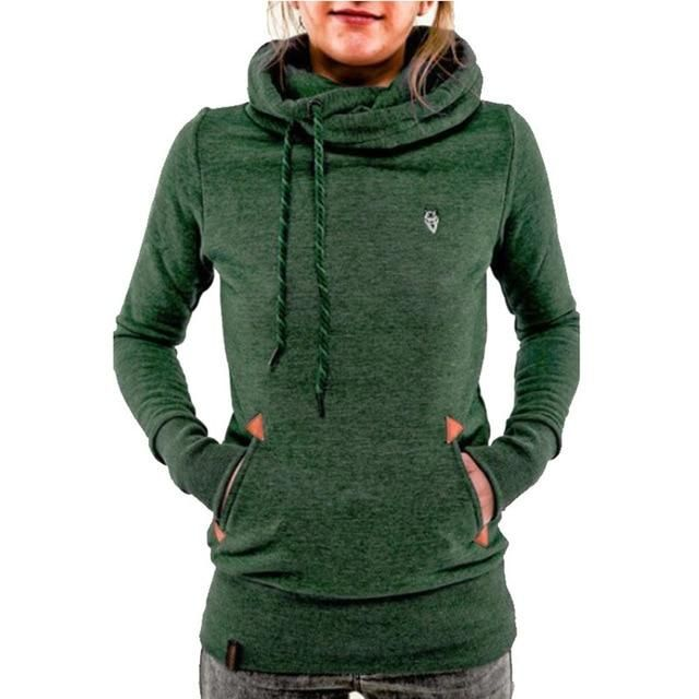 872e50ea81c Women Pullover Hoodie Female Patchwork Double Hood Hooded Sweatshirt Autumn  Coat Warm Hoody Oversize Hoodies Sweatshirts in 2019