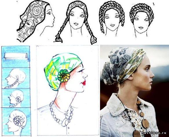 Имиджмейкер Анна Гор: русский стиль, образ жены купца, способы повязать платок