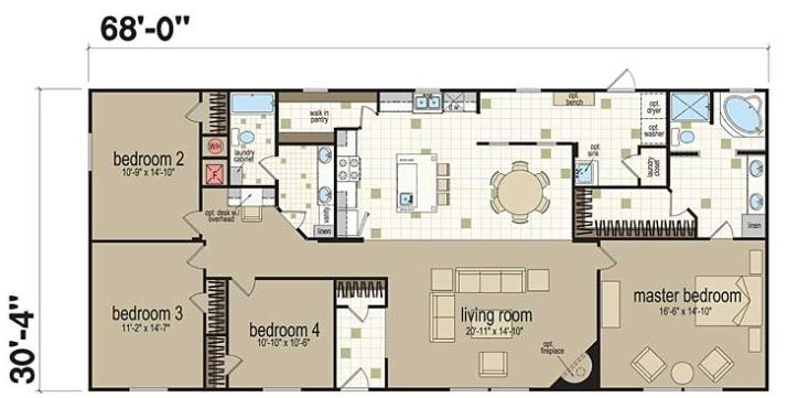 Double wide manufactured homes floor plans yahoo image - 4 bedroom double wide mobile homes ...