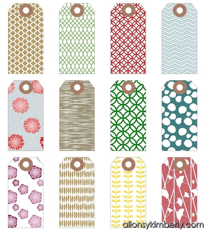 25 unique free printable tags ideas on pinterest free printable free printable gift tags many different styles or use regular christmas scrapbook paper and punch tags negle Image collections