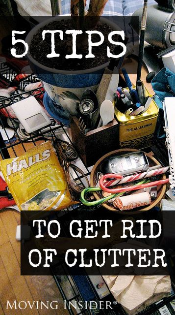 If you're downsizing before moving, check out these tips to get rid of clutter!